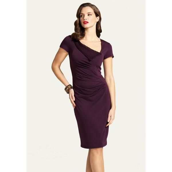 HotSquash Sukienka etui dark purple HOW21C020