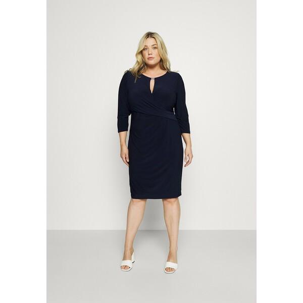 Lauren Ralph Lauren Woman CARLONDA LONG SLEEVE DAY DRESS Sukienka etui lighthouse navy L0S21C051