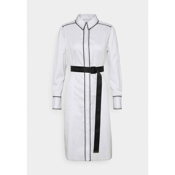 KARL LAGERFELD SHIRTDRESS CONTRAST DETAIL Sukienka koszulowa white K4821C043