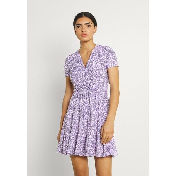 Trendyol Sukienka z dżerseju purple TRU21C0PY