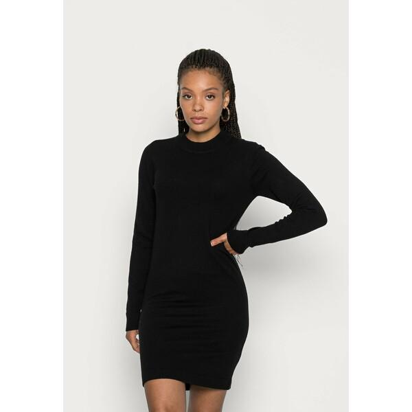Object Petite OBJTHESS DRESS Sukienka dzianinowa black OB821C01F
