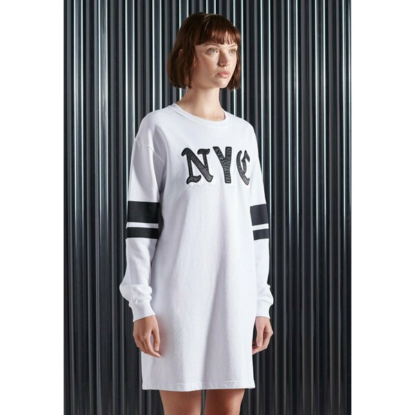 Superdry CITY NEW YORK Sukienka letnia brilliant white SU221C0MJ