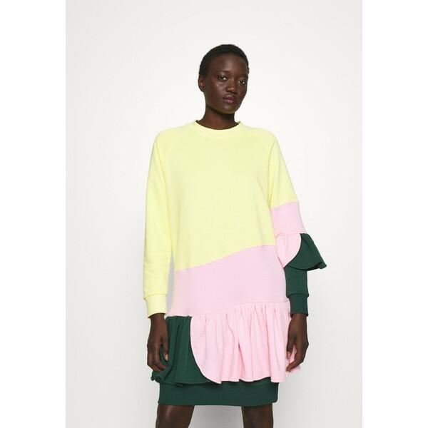 Ioana Ciolacu HARD CANDY DRESS Sukienka letnia green/pink/yellow IO021C001
