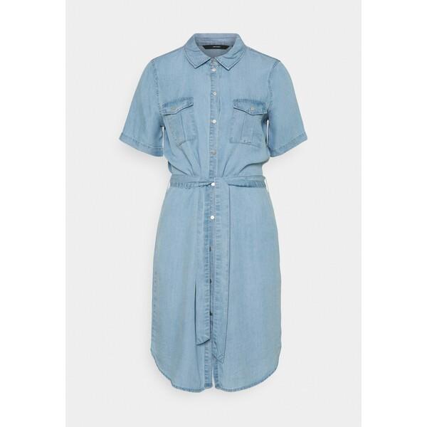 Vero Moda Tall VMSILJA SHORT DRESS Sukienka jeansowa light blue denim VEB21C08T