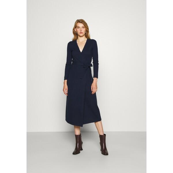 Diane von Furstenberg ASTRID DRESS Sukienka dzianinowa new navy DF221C0AH