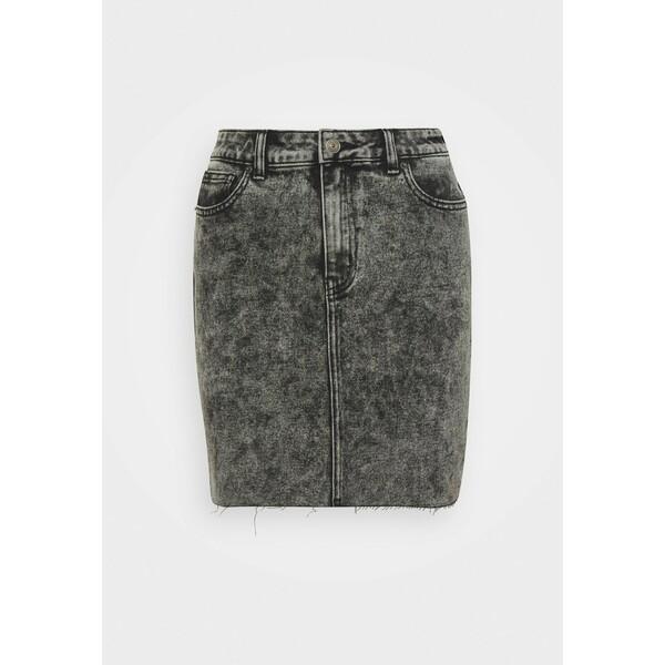 ONLY ONLEMILY LIFE ACID SKIRT Spódnica jeansowa black ON321B0SA