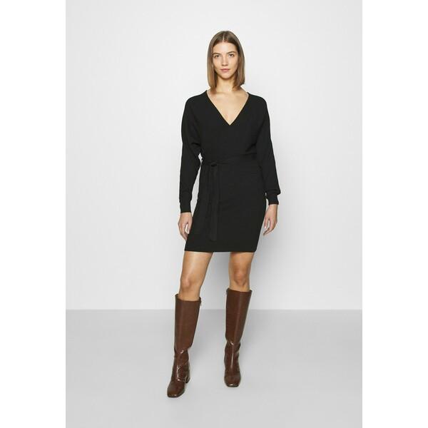 Vero Moda VMREM Sukienka dzianinowa black VE121C2E8