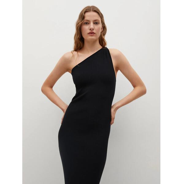 Mango Sukienka dzianinowa Twinsed 17010188 Czarny Slim Fit