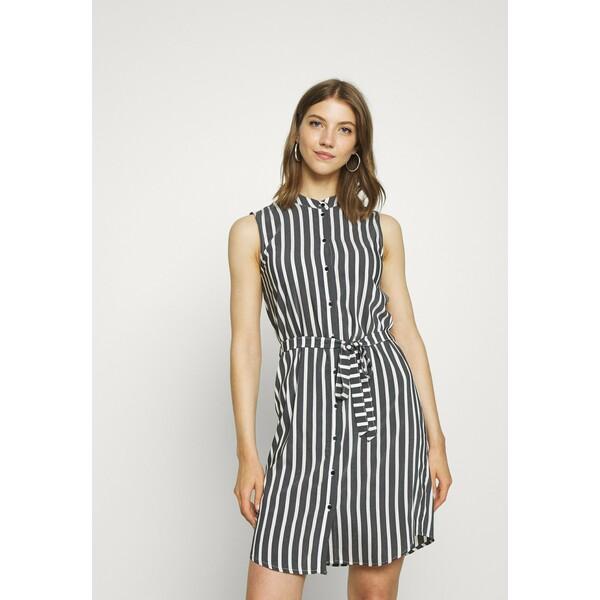 Vero Moda VMERIKA Sukienka koszulowa black/white VE121C261