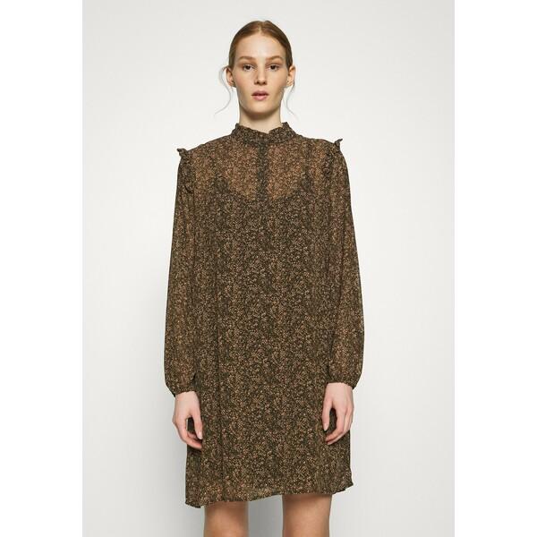 Vero Moda VMELINA DOT SHORT DRESS Sukienka letnia ivy green/multi VE121C2JT