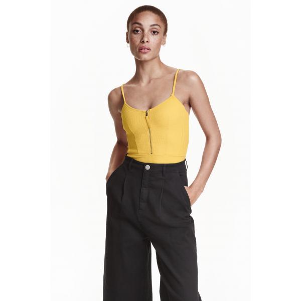 H&M Kostium kąpielowy 0372525002 Żółty