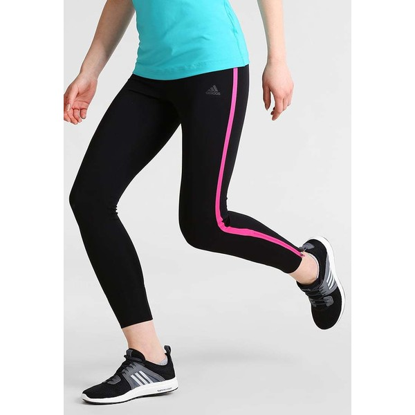 adidas Performance Legginsy black/shock pink AD541E0H0