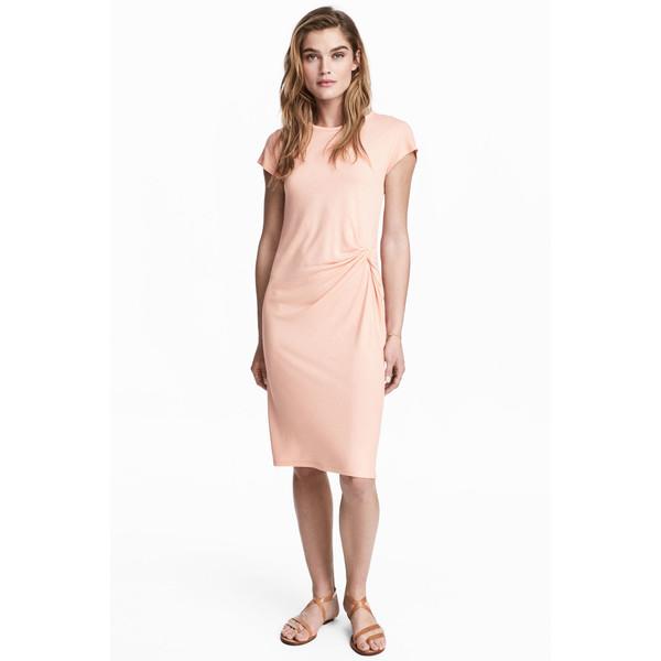 H&M Krótka sukienka 0533296002 Pudroworóżowy