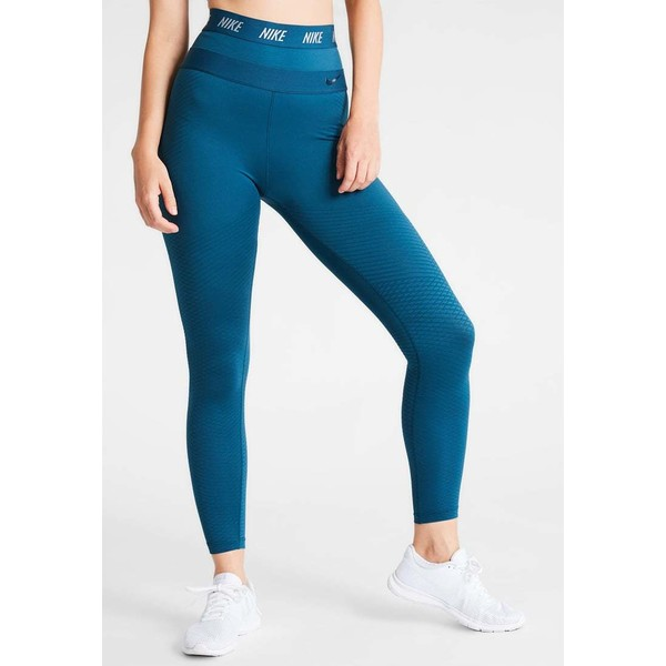 Nike Performance ZONAL STRENGTH Legginsy space blue/pure platinum N1241E0F4