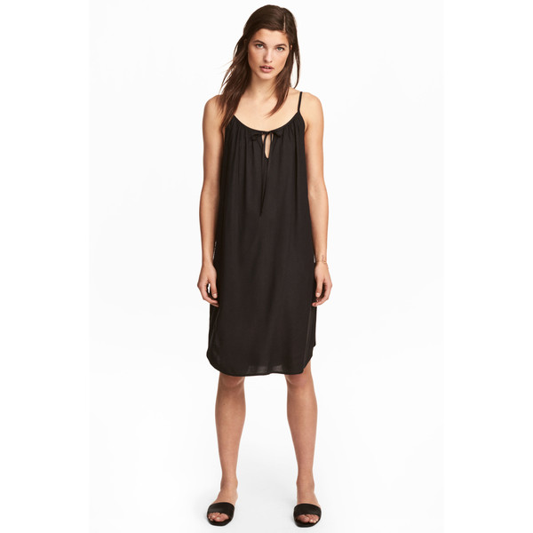 H&M Sukienka na ramiączkach 0505094003 Czarny