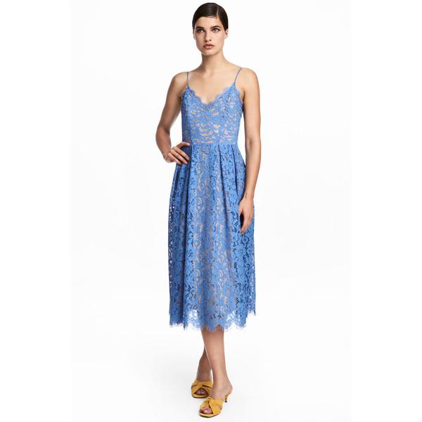H&M Koronkowa sukienka 0569889001 Niebieski
