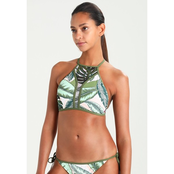Seafolly PALM BEACH HIGH NECK TANK Góra od bikini moss S1981J00P
