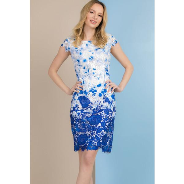 Monnari Sukienka z barwionej koronki SUKIMP0-18L-DRE0670-KM12D500-R36