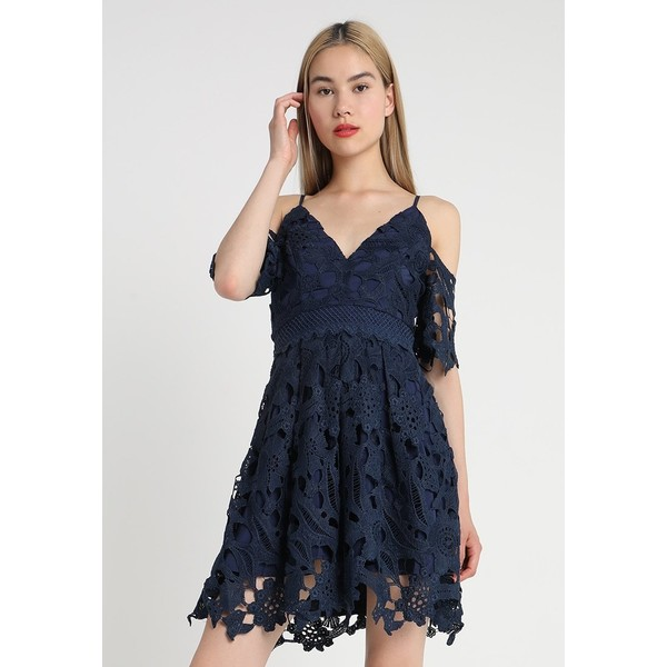 86108890d3 Love Triangle RUBY LOVE PLAYSUIT Sukienka koktajlowa navy LOE21C01J ...