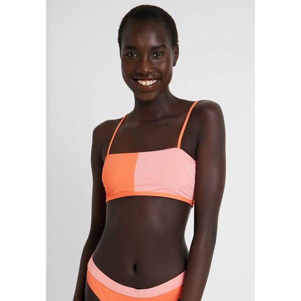 Rip Curl COLOUR BLOCK BANDEAU Góra od bikini pink/orange RI781J024