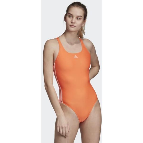 adidas Performance ATHLY V 3-STRIPES SWIMSUIT Kostium kąpielowy orange AD581G02T