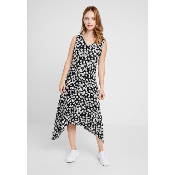 Wallis Petite DAISY HANKY HEM DRESS Długa sukienka black WP021C068